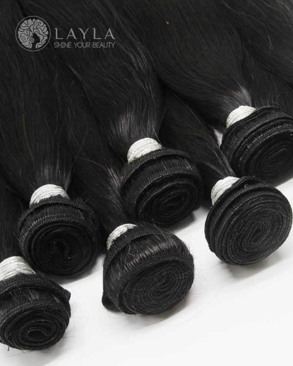 Vietnamese hair double weft hair extensions silky straight hair