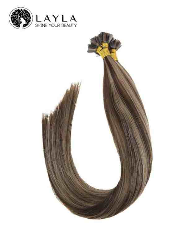"""Flat tip straight hair extensions colored hair 24"""""""