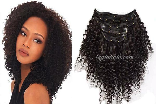 Clip in Curly hair Extensions-vietnamese-natural