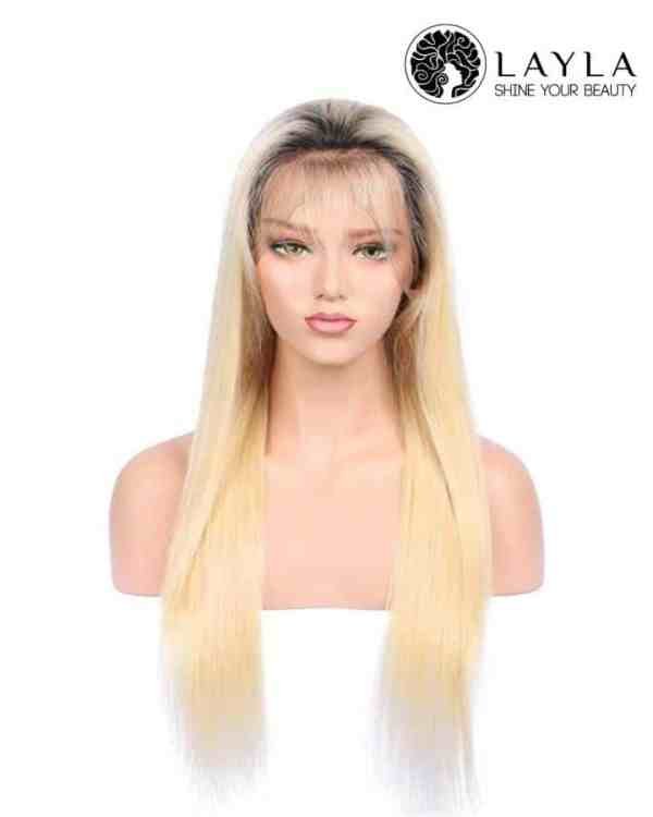 Blonde Lace Front Wig With Dark Roots
