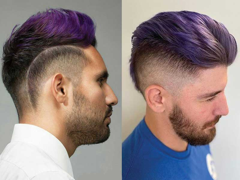 8 Awe-Inspiring Ideas For Purple Hair Men You'll Love
