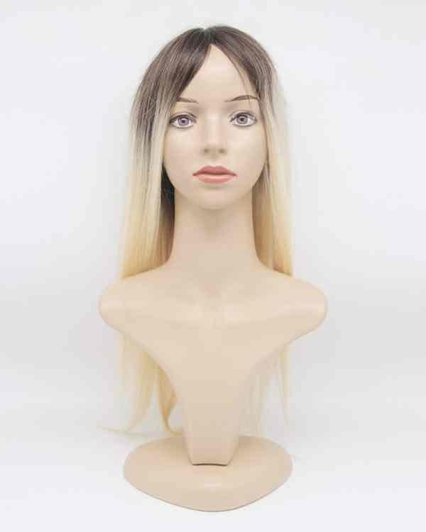 Blond Hair Topper Dark Roots Human Hair - Laylahair