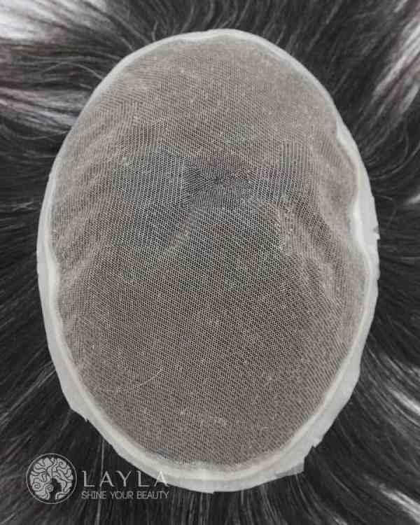 Gray Mono Hair Toupee Laylahair
