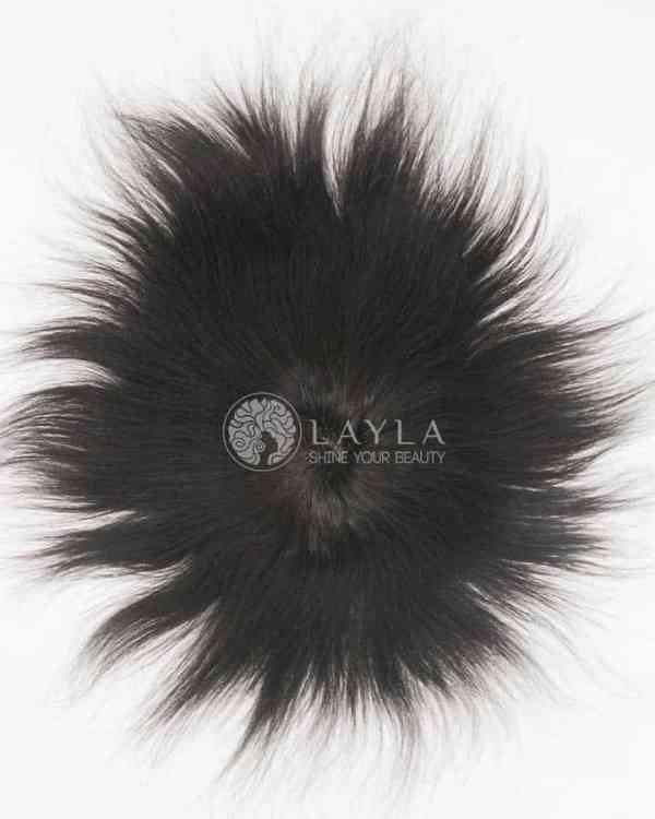 Natural Black Toupee Hair 130% Density