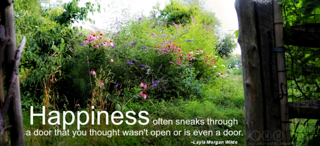 Butterfly garden-happiness quote