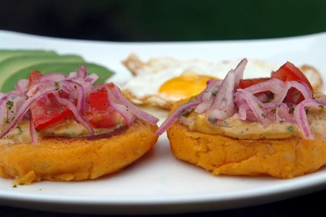llapingachos or Ecuadorian potato patties