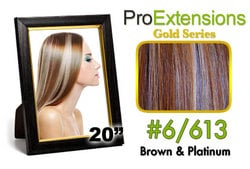 #6/613 Chestnut Brown w/Platinum Highlights Pro Cute