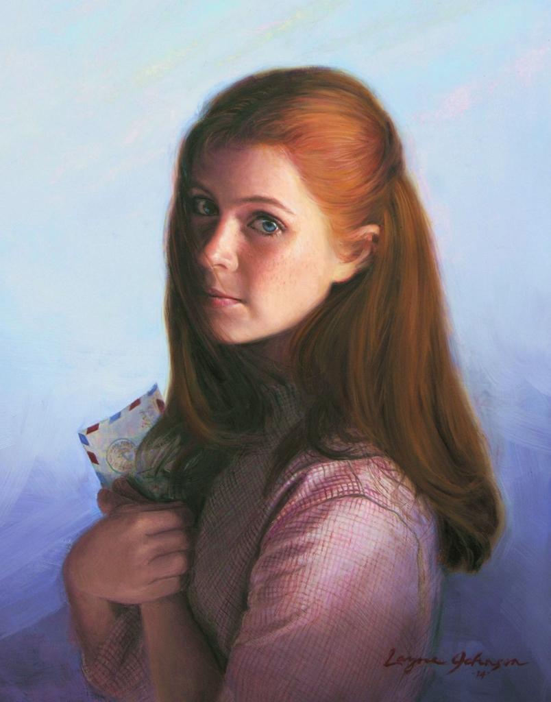 Image of a fine art oil portrait of Megan by artist Layne Johnson