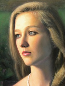 Image of a fine art oil portrait of Rachel by artist Layne Johnson