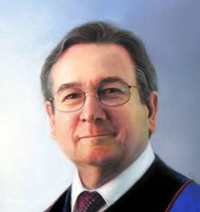 Image of a fine art oil portrait of Sr. Pastor Kevin Rudolph by artist Layne Johnson