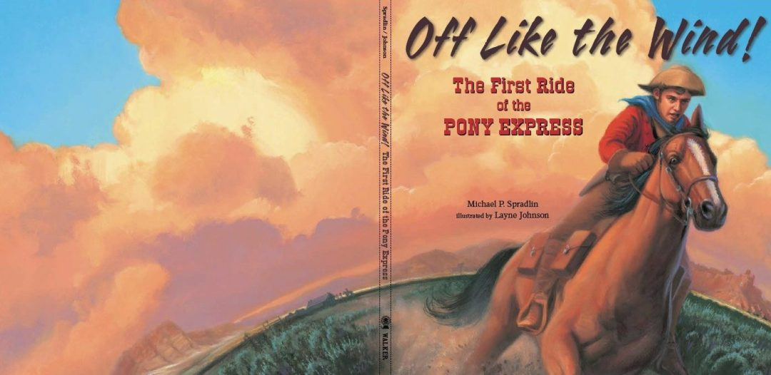 The cover for the picture book, Off Like the Wind.