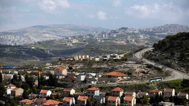 Houses in the Israeli settlement of settlement of Kedumim are seen in the Israeli-occupied West Bank