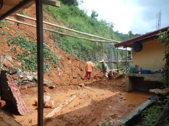 Landslide back Lina's cottage Layog country farm