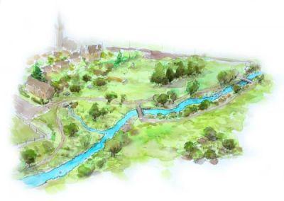 Suppression du clapet et réaménagement de l'ancien plan d'eau, Le Layon à Nueil-sur-Layon