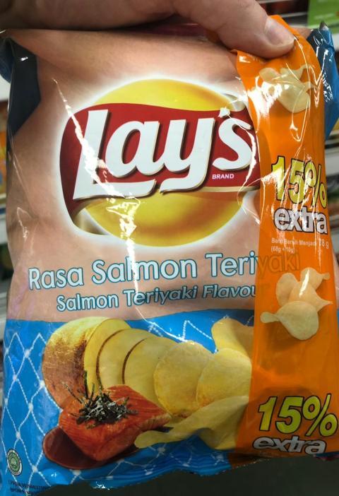 Salmon teriyaki flavor