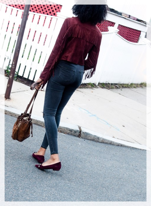 Fall color combo, how to wear burgundy this fall , song of style