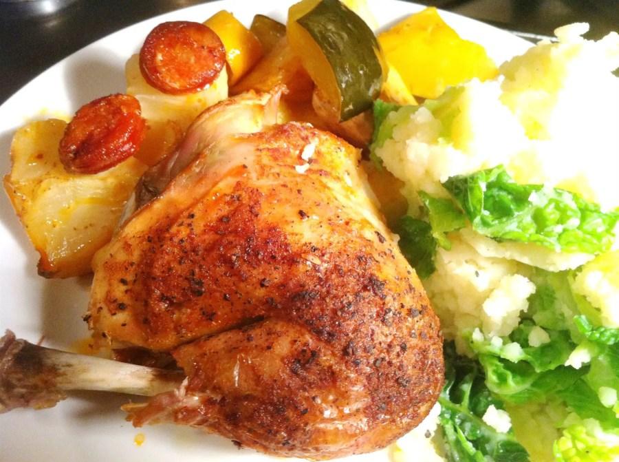 Pot Roast Spanish Chicken with Chorizo and Lemon, Lay The Table