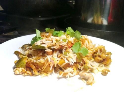 Vegetable Biryani made with Smoked Balti Masala, Lay The Table