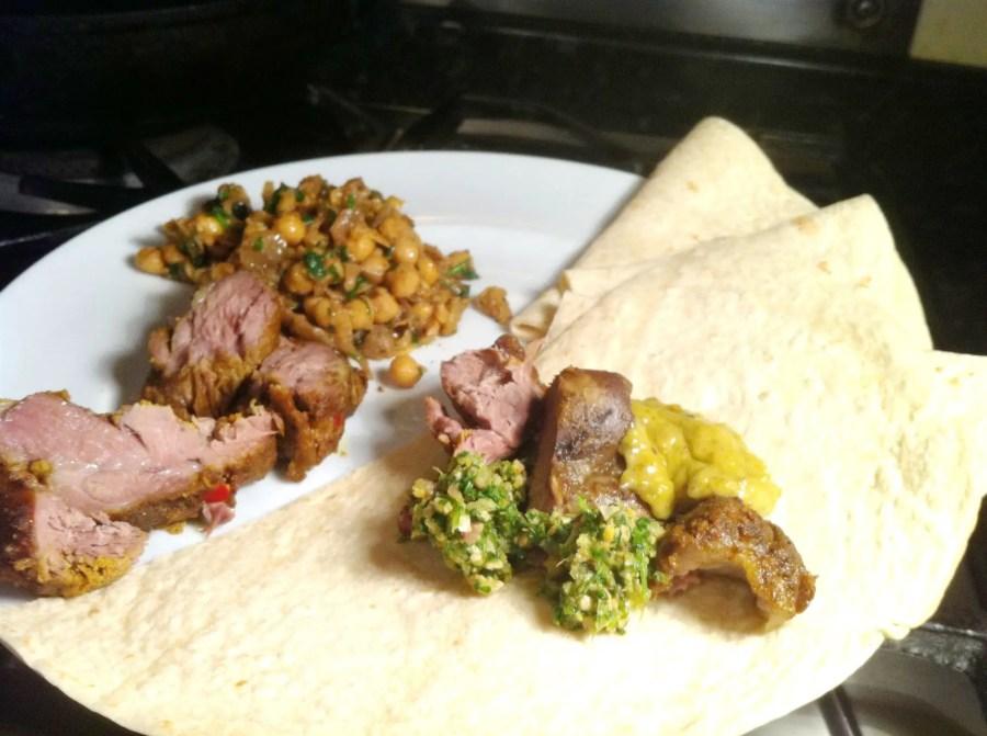 Lamb Neck Tikka with Pistachio Cream Sauce and Coriander Chutney, Lay The Table