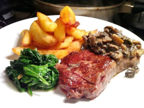 Sous Vide Wagyu Sirloin and Thrice-Cooked Chips, Lay The Table