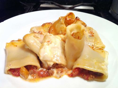 Baked Paccheri Pasta with Bolognese and Grana Padano Sauce, Lay The Table