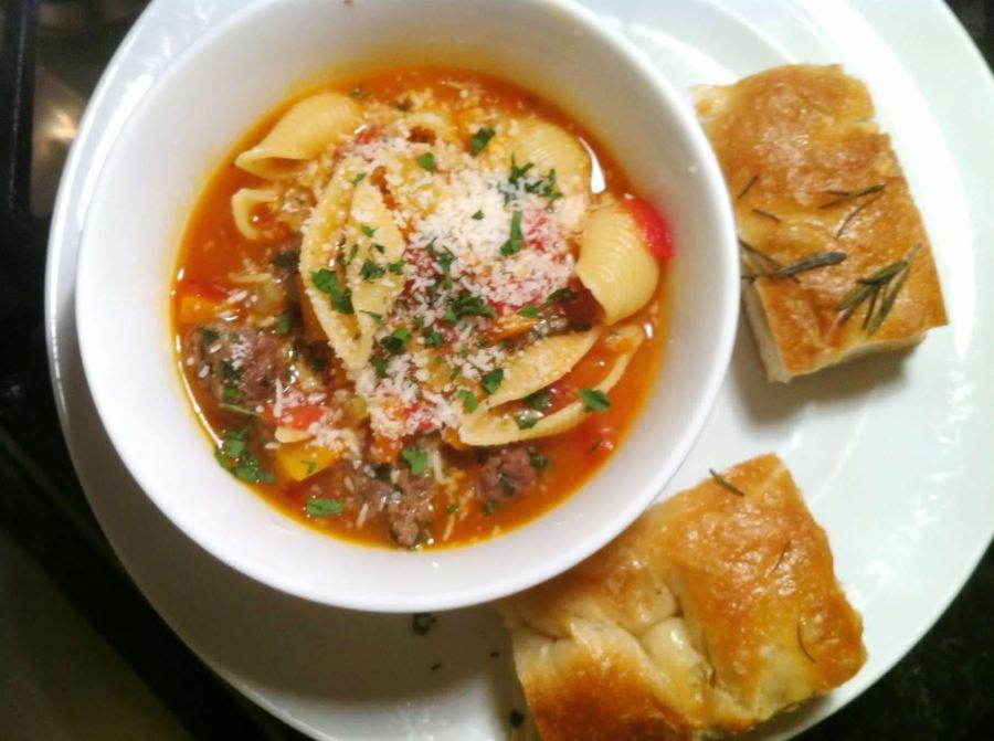 Hello Fresh Italian Polpetti Soup with Conchiglie, Lay The Table