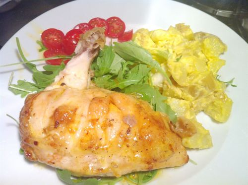 Rapeseed Chilli Oil Chicken with Rapeseed Mayo Potato Salad, Lay The Table