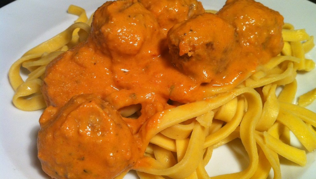Nutty Pork Meatballs with Five-Veg Pasta Sauce, Lay The Table