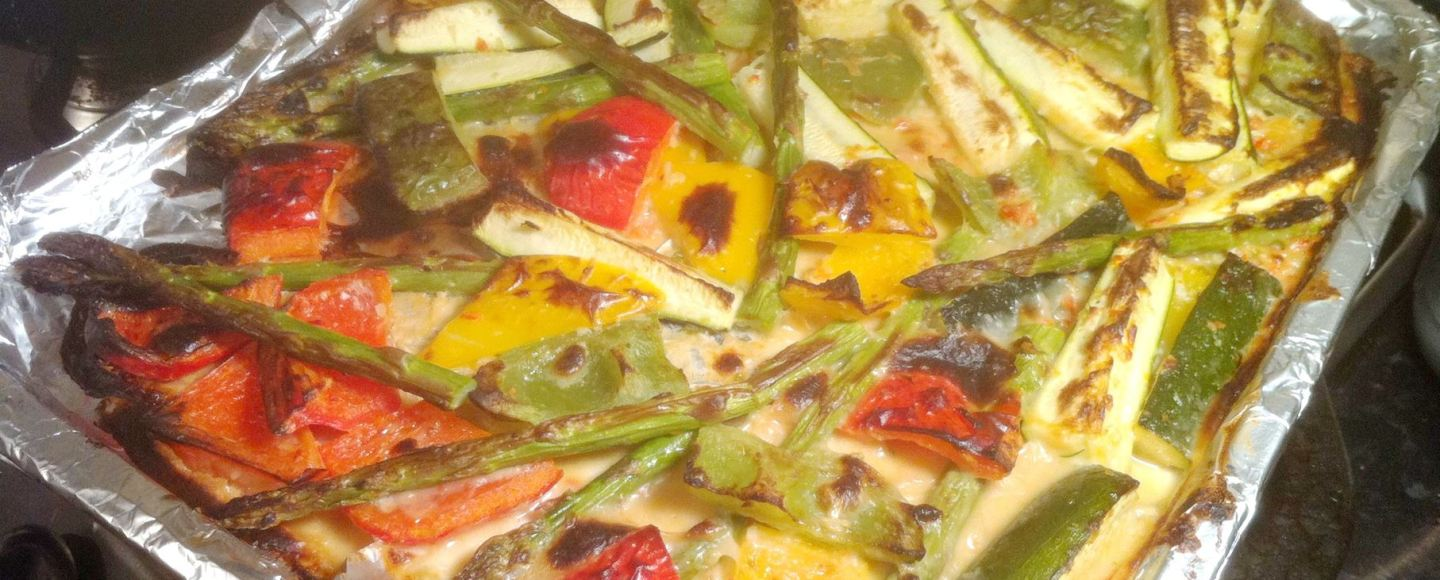Thai Marinated Grilled Vegetables, Lay The Table
