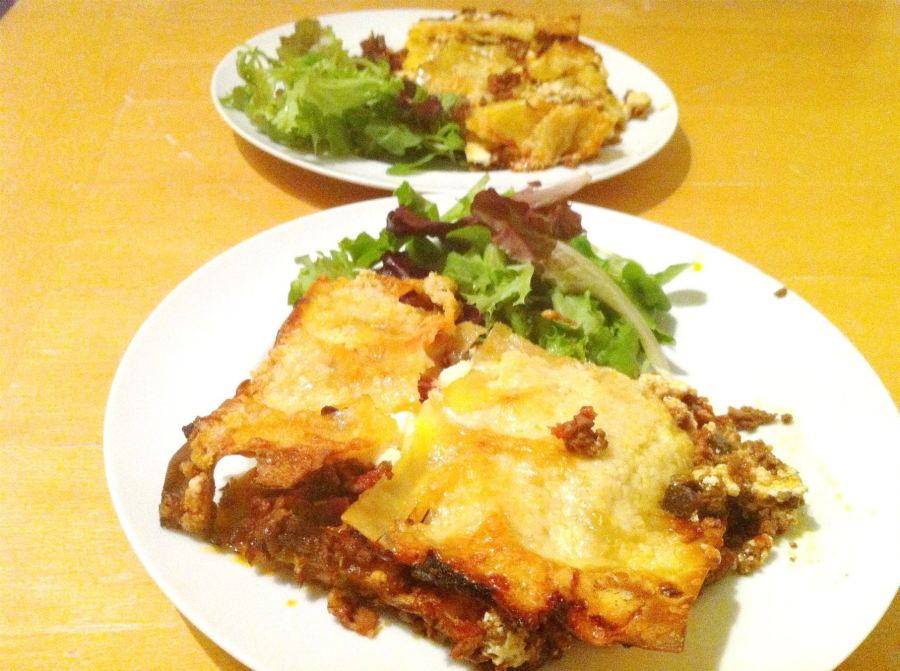 Rustic Three-Cheese Lasagne, Lay The Table