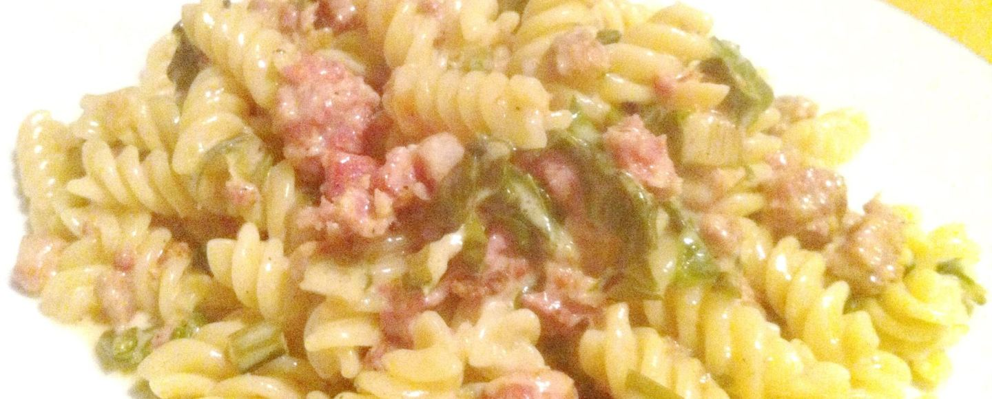 Jamie Olivers Italian Sausage Pasta with Swiss chard, Lay The Table