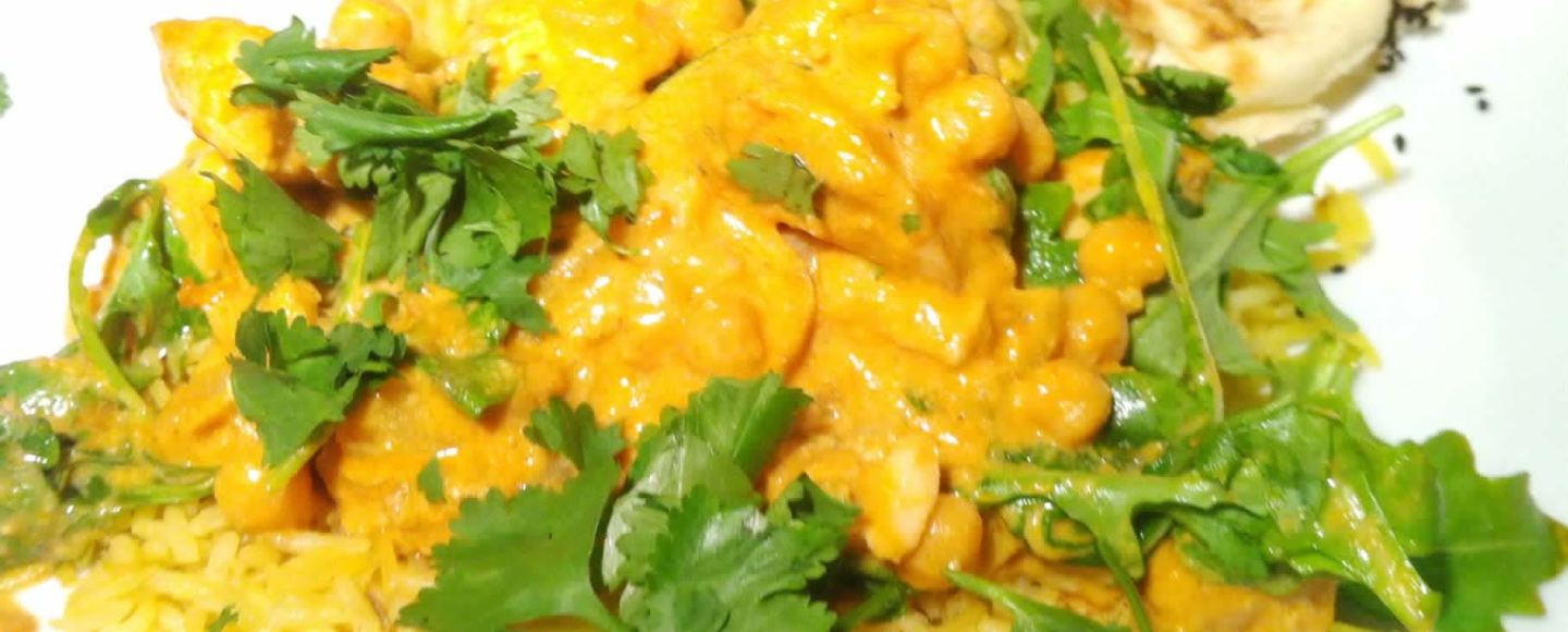 Spice Drops Chicken Masala with Chick Peas and Rocket, Lay The Table