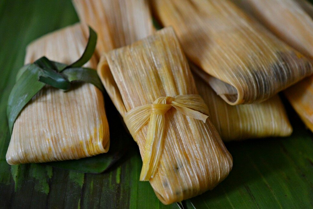 Homemade Veggie Tamales, Lay The Table