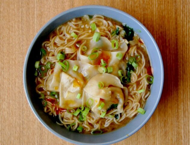 Mushroom Miso Ramen with Wontons and Spinach, Lay The Table