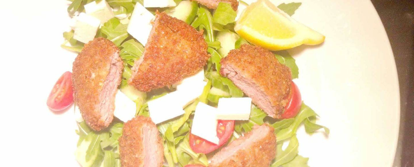 Parmesan-crusted Lamb Medallions with Feta Salad, Lay The Table