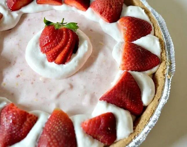 Vegan Strawberry Chiffon Pie, Lay The Table