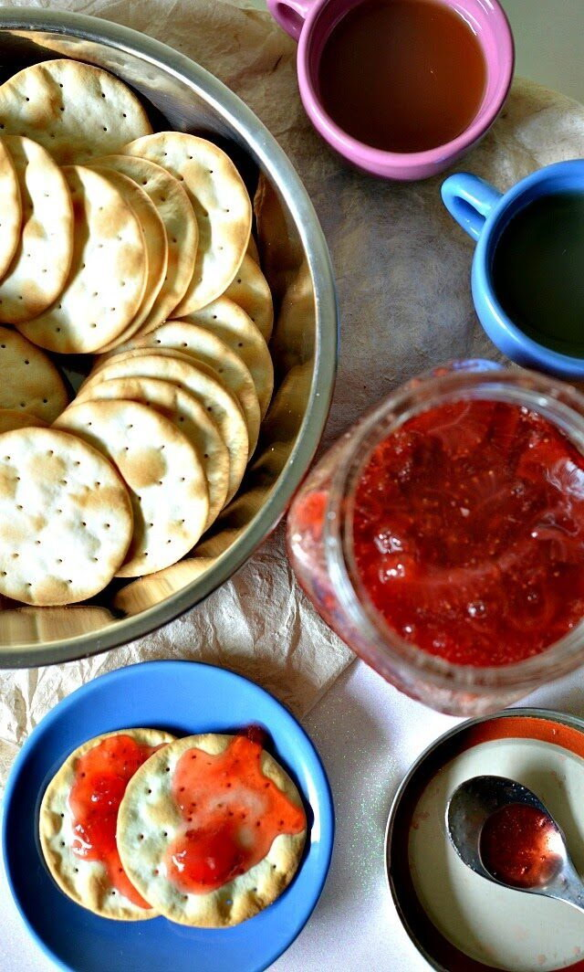 Easy Vegan Strawberry Champagne Jam, Lay The Table