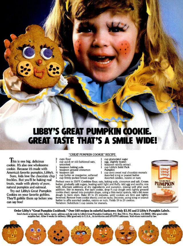 Great Pumpkin Cookie Recipe | 80s Halloween Recipe, Lay The Table