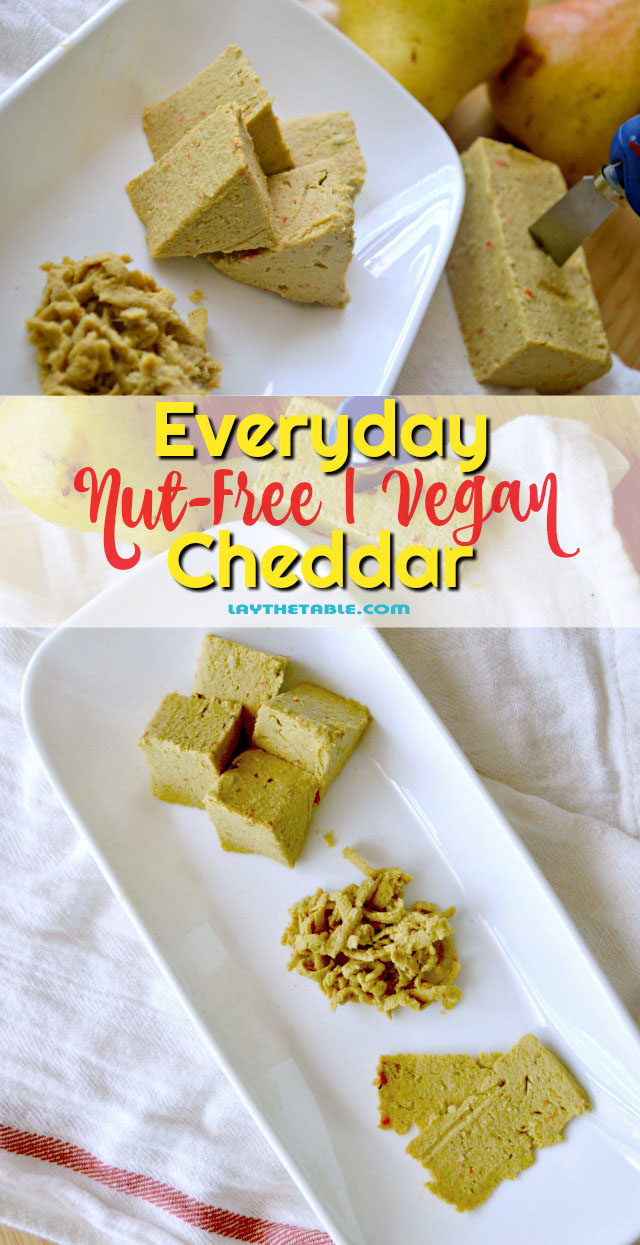 Everyday Nut-Free Vegan Cheddar, Lay The Table