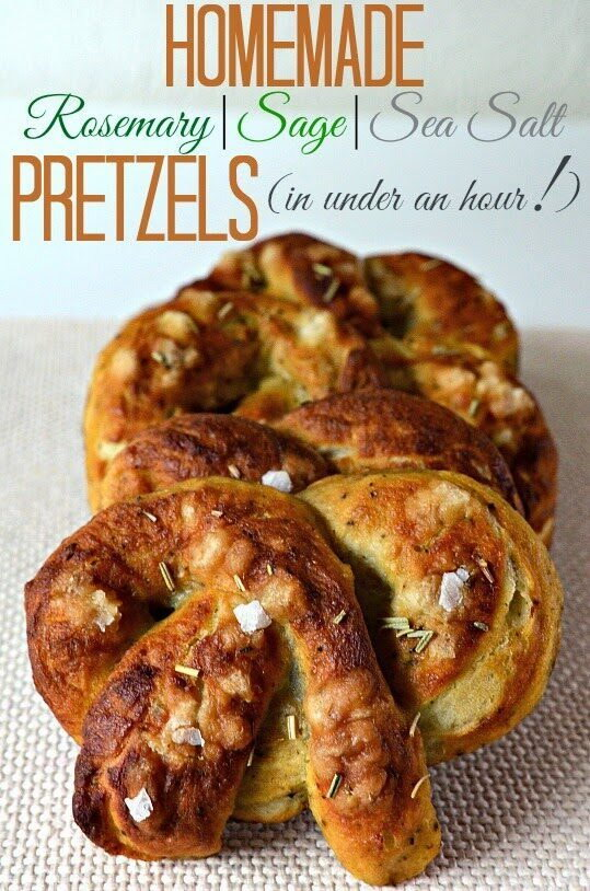 Homemade Rosemary, Sage and Sea Salt Pretzels (in under an hour!), Lay The Table