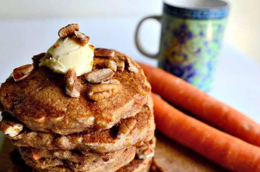Whole Wheat Vegan Pancakes with Carrots and Pecans, Lay The Table