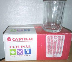 Vasos de té CASTELLI Pack 6 unidades