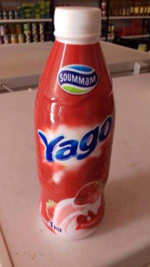 Yogur liquido de fresa soummam