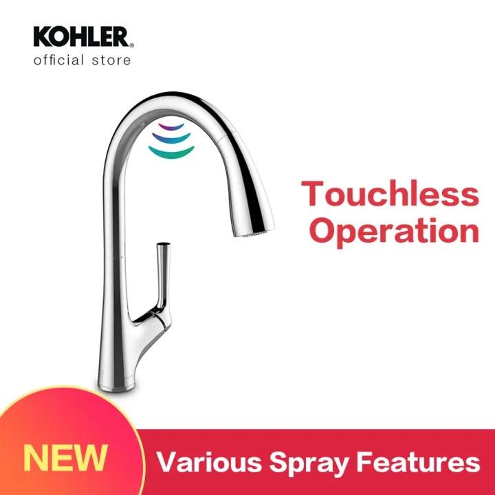 pre order eta june kohler malleco touchless pull down kitchen faucet k 77748t 4 cp