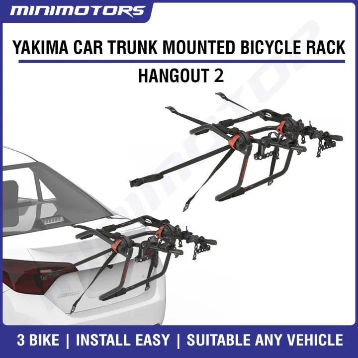 sg seller yakima trunk mounted car bicycle holder rack