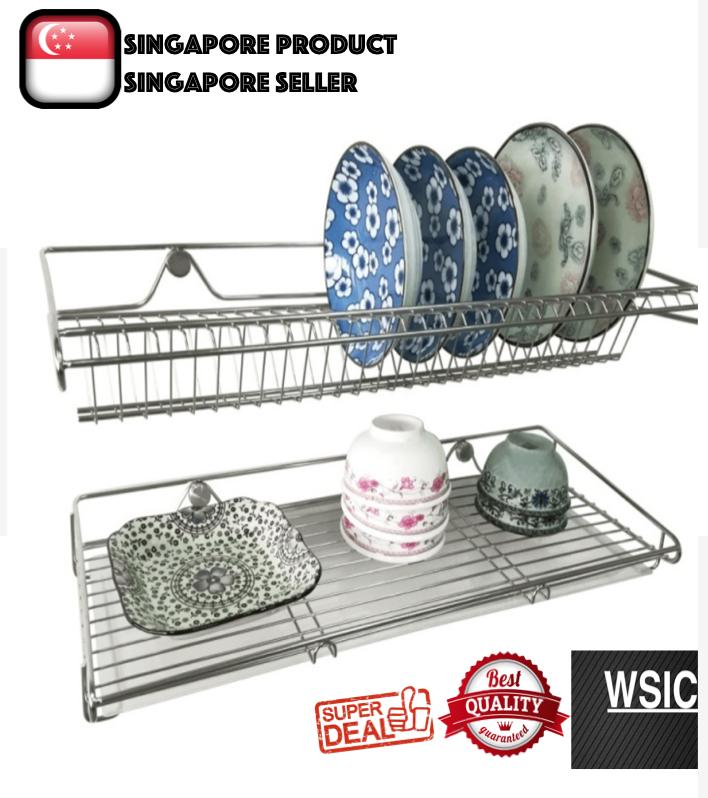 22 wall mounted dish rack stainless steel 304 dish drainer kitchen dish dryer