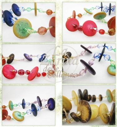 collana lunga etnica, collane colorate etniche, gioielli etnici moderni, collana raffinata con perle di legno, gioielli in legno