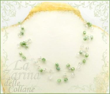 collane sposa, gioielli sposa, collier, collana filo trasparente, gioielli nylon, collana avorio,