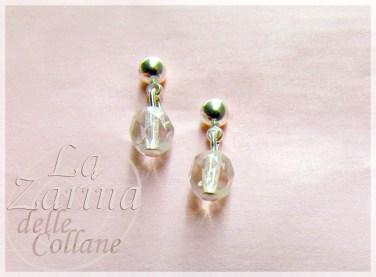 orecchini sposa, pendente piccolo, pendenti cristallo, cristallini avorio, piccoli pendenti sposa,