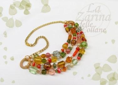 collana multicolore ispirazione natura